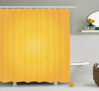 Modern Sunshine Circle Shower Curtain
