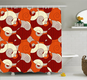 Spiral Abstract Stripes Shower Curtain