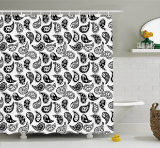 Different Flowers Forms Shower Curtain