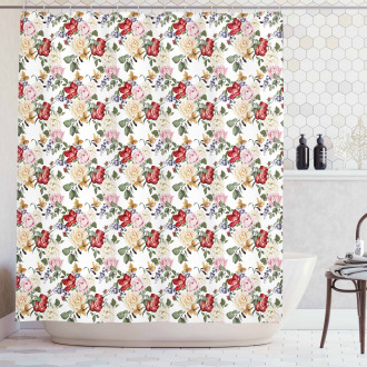 Spring Romantic Roses Shower Curtain