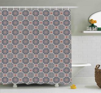 Boho Floral Vintage Shower Curtain