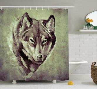 Winter Wild Wolf Forest Shower Curtain