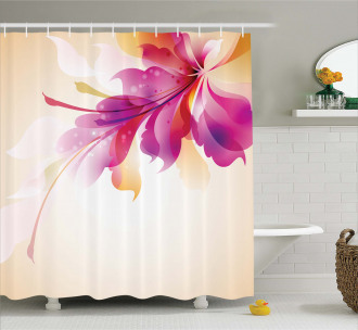 Floral Point and Leaf Shower Curtain