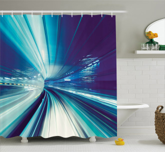 Asian Tokyo at Night Shower Curtain