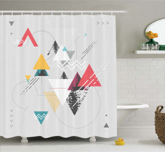 Triangle Geometric Shower Curtain