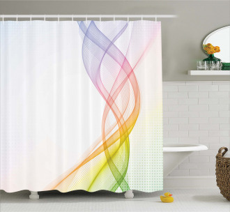 Rainbow Wavy Smoke Shower Curtain