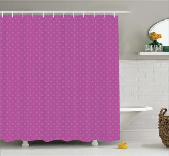 Nostalgic Spots Polka Shower Curtain