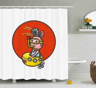 Alien Planet Shower Curtain