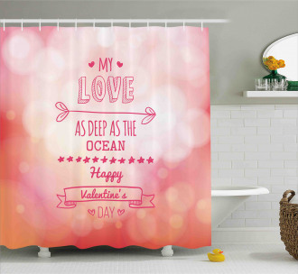 Pink Love Story Shower Curtain