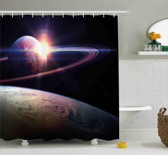 Massive Planets Cosmo Shower Curtain
