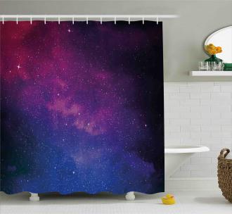 Stardust Space Rainbow Shower Curtain