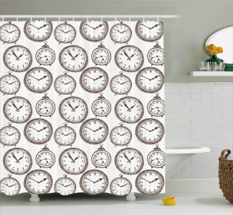 Pocket Wath with Number Shower Curtain