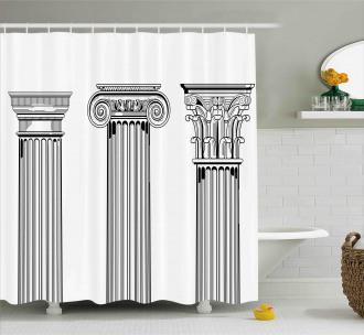 Antique Column Capitals Shower Curtain