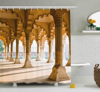 Agra Fort Pillar Shower Curtain