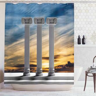 Sunset Modern Antique Shower Curtain