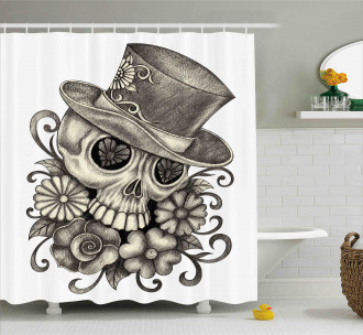 Sketch Mexican Shower Curtain