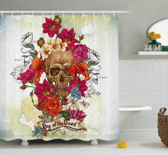 Dead Flowers Spain Shower Curtain