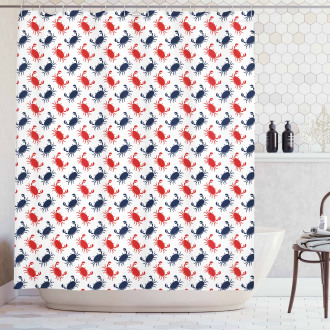 Sea Animals Theme Crabs Shower Curtain