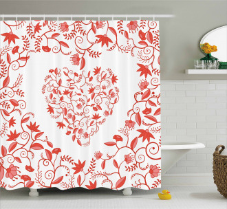 Paisley Design Shower Curtain