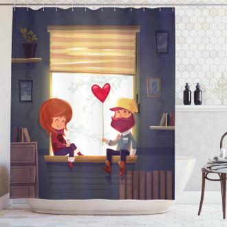 Love Romantic Couple Shower Curtain