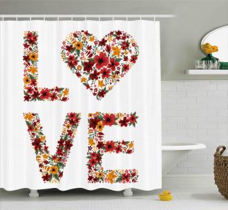Garden Fowers Shower Curtain
