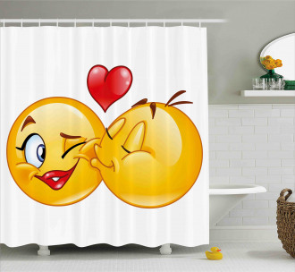 Romantic Flirty Love Mood Shower Curtain