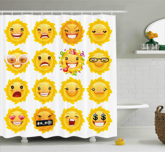 Smile Surprise Angry Mood Shower Curtain