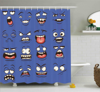 Surprised Sad Fierce Mood Shower Curtain