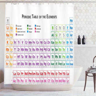 Chemistry Primary Table Shower Curtain