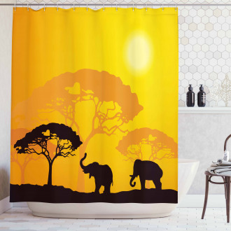 Africa Abstract Wildlife Shower Curtain