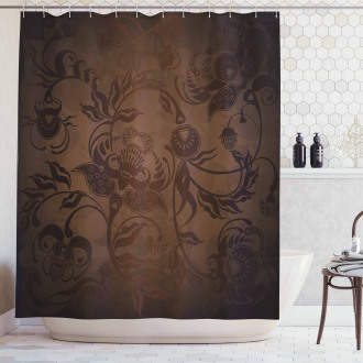 Floral Paisley Ivy Shower Curtain