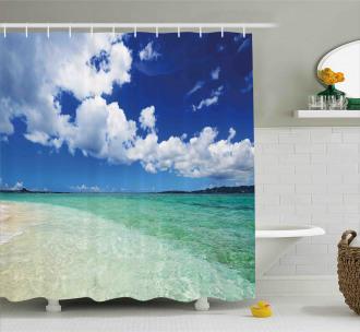 Island Sealife Wavy Sunny Shower Curtain