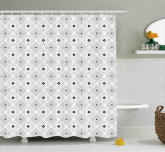 Modern Squares Shower Curtain