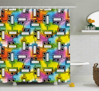 Fun Characters Pattern Shower Curtain