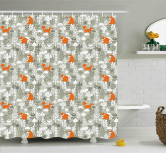 Fox in the Winter Forest Shower Curtain