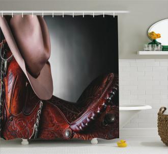 Cowboy Wild Texas Art Shower Curtain