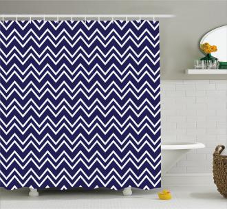 Zig Zag Modern Pattern Shower Curtain