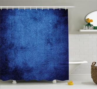 Dark Blue Contemporary Shower Curtain