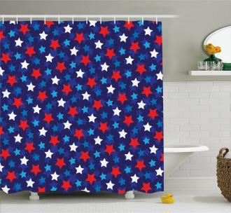 American Flag Stars Shower Curtain