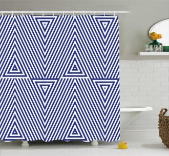 Geometrical Triangle Icon Shower Curtain