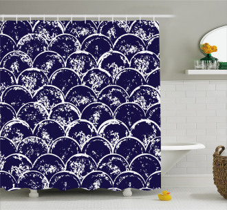Round Abstract Modern Shower Curtain