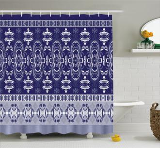 Floral Horizontal Shower Curtain