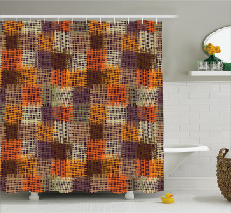 Digital Grunge Design Shower Curtain