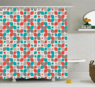 Retro Mosaic Motif Shower Curtain