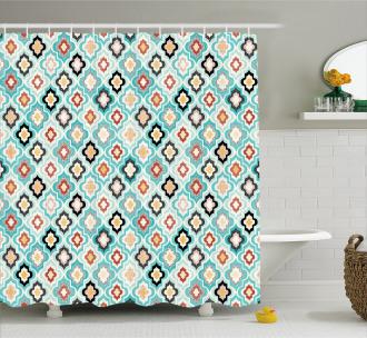 Ottoman Heraldic Style Shower Curtain