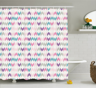 Eastern Chevron Boho Shower Curtain