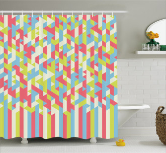 Psychedelic Gradient Shower Curtain