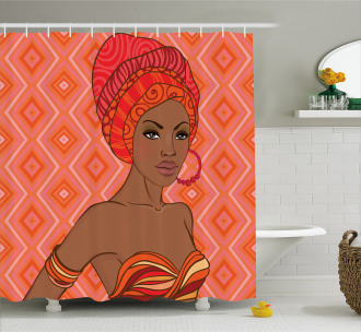 Ethnic African Zulu Girls Shower Curtain