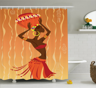 Vintage Tribal Ritual Art Shower Curtain