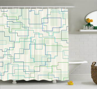 Future Town Design Shower Curtain